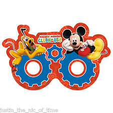 Disney Mickey Mouse CLUBHOUSE Boys Birthday Party Paper Glasses Masks x6