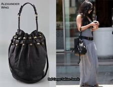 Alexander wang Black Pebbled Leather Matte Studded Diego Bucket Bag RARE!!!!
