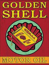 Golden Shell Motor Oil, Sexy Retro metal Sign Novelty Gift, Garage, Man Cave