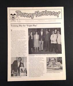"""Disney Newsreel VTG Nov 1981 """"Triple Play""""  Employee Newsletter Memorabilia"""