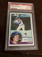 1983 Topps Ryne Sandberg Chicago Cubs #83 Baseball Card HOF. PSA 8