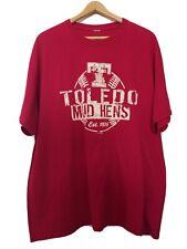Toledo Mud Hens Minor League Baseball Detroit Tigers Est. 1896 2XL Red Tshirt