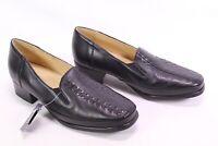 C2107 Pia Damen Gummizug Komfort Slipper Schuhe Loafer Leder schwarz Gr. 41 G