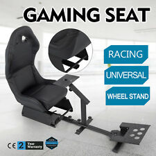 Racing Cockpit Seat for PCs PS2 PS3 PS4 Xbox Compatible Upholstered Adjustable