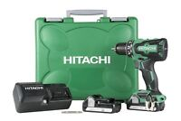 "New Hitachi DS18DBFL2 18V 1/2"" Lithium Ion Brushless Cordless Drill/Driver Kit"
