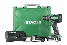 "New Hitachi DS18DBFL2 18V 1/2"" Lithium Ion Brushless Cordless Drill/Driver Kit"