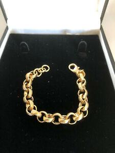 18k Gold GF Childs Baby Belcher Bracelet Chain Necklace,Kids,Boys,Girls Bespoke