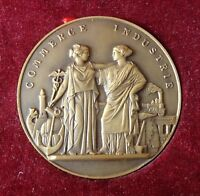 flandre - médaille bronze chambre de commerce d' armentières hazebrouck