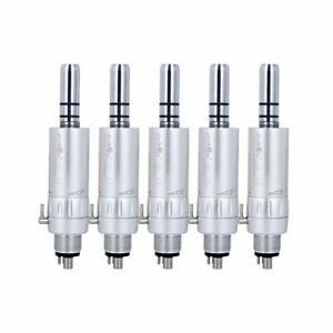 5Pcs Dental Headpiece Slow Low Speed 4 Holes Handpiece Air Motor For Any E-type