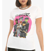 Gorillaz GROUP Girls Juniors Women's T-Shirt NWT Licensed & Official