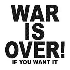 John Lennon War Is Over sew on cloth patch     (ro)