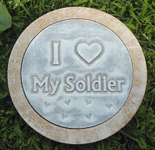 "10"" stepping stone soldier  plastic mold plaster concrete"