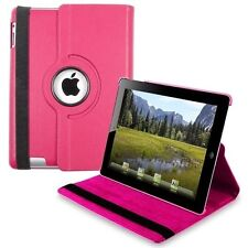 360° HOT PINK  Rotating iPad 5 AIR SMART Leather Cover Case + Protector + Stylus