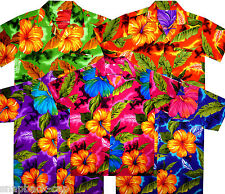 Very Loud Funky Hawaiian Shirt Mens, Big Flower, Short-Sleeve, Unisex, Multi