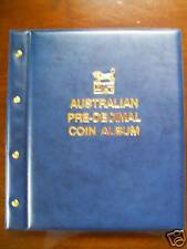 VST AUSTRALIAN PRE-DECIMAL 1910-1964 COIN ALBUM BLUE COLOUR - Mintages Printed