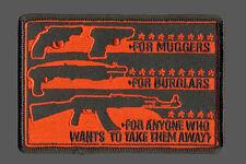 MUGGERS BURGLARS 2ND AMENDMENT BIKER GUN PATCH