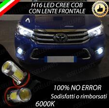 COPPIA LAMPADE FENDINEBBIA H16 LED CREE COB CANBUS PER TOYOTA HILUX MK8 6000K