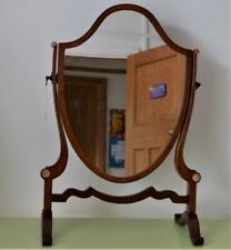 Edwardian Ladies Dressing Table mirror Georgian Mahogany Shield back Tilting