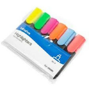 Assorted 6 Pack Initiative Highlighter Pens - 6 Colours HI8581
