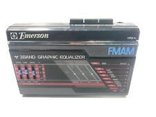 Emerson 80s Style Personal Portable Am/Fm Cassette Player Model Crs25 - Tested