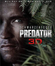 Predator 3D (Blu-ray 3D+2D/DVD, 2013; 2-Disc Set) NEW w/ Lenticular Slipcover