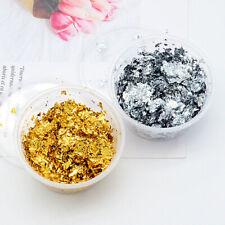 10g Schlagmetall Blattgold Silber Flocken Mold Füllungen Nail Nagel Resin Harz