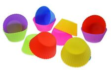 12x Solid Colours Cupcake Muffin Mold Made of Silicone - 6 Colors Baking Tin