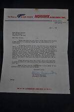 1956 *SIGNED* Chairman of the Board Mohawk Airlines Letterhead