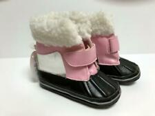 Baby Girls Stepping Stones Soft Boots Faux Fur Size 9 - 12 Months