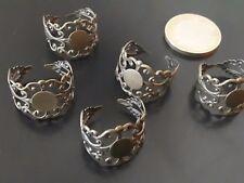 ¡OFERTA 2x1! De 5 a 75 Bases anillos circulo 8mm (BASE-34) anillo metal bronce