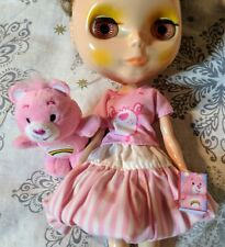 Lot for Blythe or Barbie Care Bear Top Takara Skirt & Miniature Cheer Bear