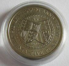 Isle of Man 25 Pence 1972 Silver Wedding BU