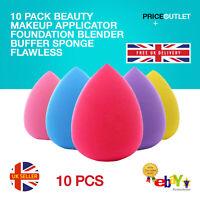10 Pack Beauty Makeup Applicator Foundation Blender Buffer Sponge Flawless