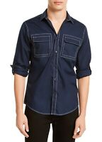 INC Mens Shirt Navy Blue Size 2XL Button Down Contrast Stitched Bruce $49 #170