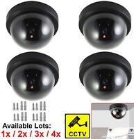 4 Fake Dummy CCTV Dome Security Camera Indoor Outdoor Flashing LED Warning Sign