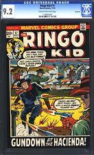 Ringo Kid #17 CGC 9.2 (Marvel Comics, 11/72) Savannah Pedigree Picture Frame