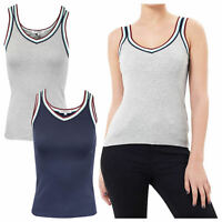 Women's Brave Soul Retro Sports Stripe Activewear Vest Top NEW SS18 Sizes UK8-14