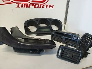 JDM TOYOTA LEXUS GS300 ARISTO JZS160 JZS161 BLACK WOODGRAIN FULL DASH TRIM SET!