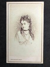 Rare Victorian Carte De Visite CDV: Bergamasco: Opéra Singer Adelina Patti: 1871