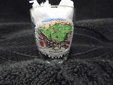 Innsbruck Shot Glass France Gold Rim Tyrol Austria Capital City Souvenir