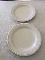 Pottery Barn Emma Cream Dinner Plates..2