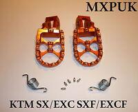 KTM150SX 2009 FOOTPEGS MXPUK  FOOT PEGS KTM ORANGE 2008 144SX 150SX 300SX (562)