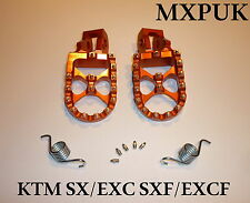 KTM125SX 2005 FOOTPEGS MXPUK  FOOT PEGS KTM ORANGE 2004 200SX 250SX 300SX (562)