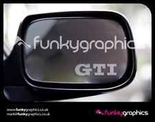 VW Golf GTi Logotipo Adhesivos Calcomanías Gráficos calcomanías de Espejo x3 En Plata Grabado Vinilo