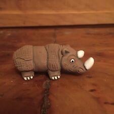 Zoonies Peru Rhino Rhinoceros Figurine