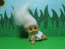 CRAWLING BABY - Russ Troll Doll - NEW IN ORIGINAL WRAPPER - Pastel Pink Hair