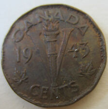 1943 Canada TOMBACK VICTORY NICKEL (Five Cent NICE GRADE Coin) (F652)