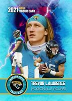 TREVOR LAWRENCE 2021 VERY FIRST EVER GOLD ROOKIE GEMS ROOKIE CARD JAGUARS!