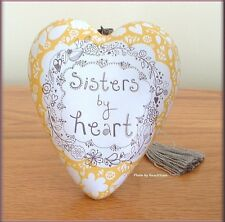 SISTERS BY HEART ART HEART SCULPTURE ORNAMENT BY RACHAEL TAYLOR FREE U.S. SHIP
