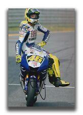 VALENTINO Rossi Firmato a Mano 12X8 foto-YAMAHA-MOTOGP Autografo.